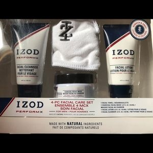 New In Package Men's 4-Pc Facial Care Set IZOD